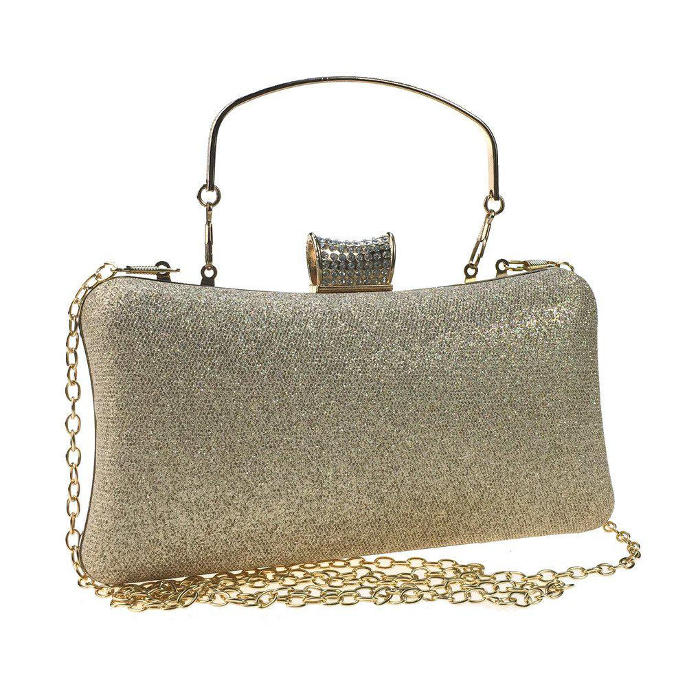 Fashion Women Bags Leatherette Evening Bag Buttons Crystal Detailing for Wedding Party