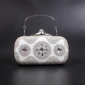 Women Bags Poly Urethane Evening Bag Crystal/ Rhinestone for Wedding Event/Party -