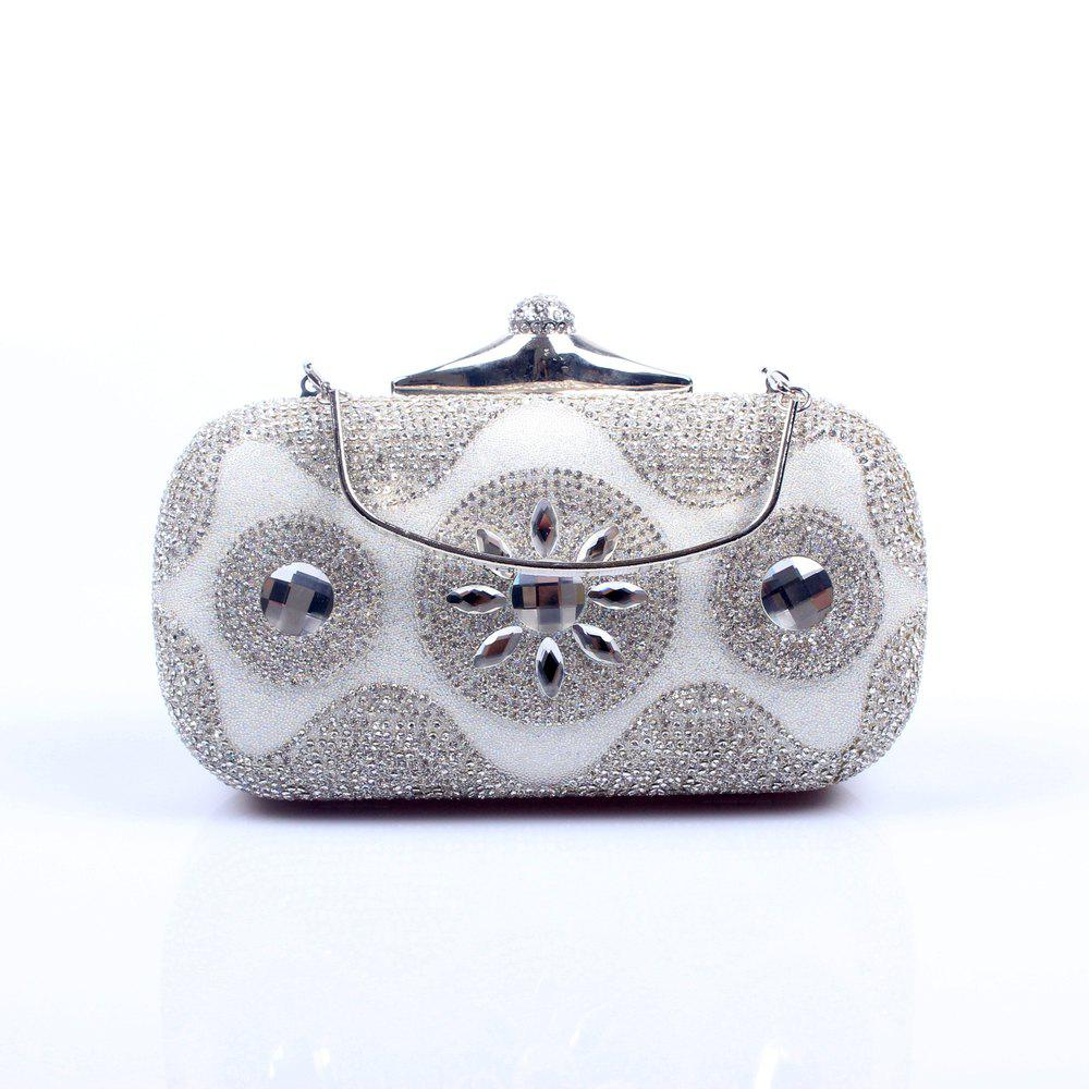 Store Women Bags Poly Urethane Evening Bag Crystal/ Rhinestone for Wedding Event/Party