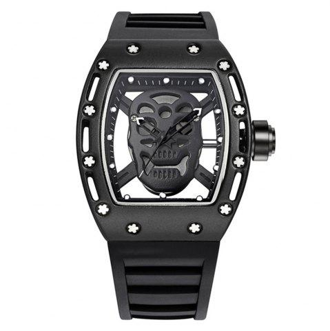 Cheap Punk Skull Style Fashion Men  Silicone Hollow Quartz Skull Steampunk Luxury Sports Casual Watche