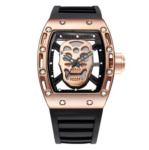 Affordable Punk Skull Style Fashion Men  Silicone Hollow Quartz Skull Steampunk Luxury Sports Casual Watche