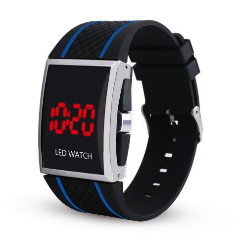 Chic LED Digital  Military Outdoor Rectangle Unisex Electronic Casual Men Watch