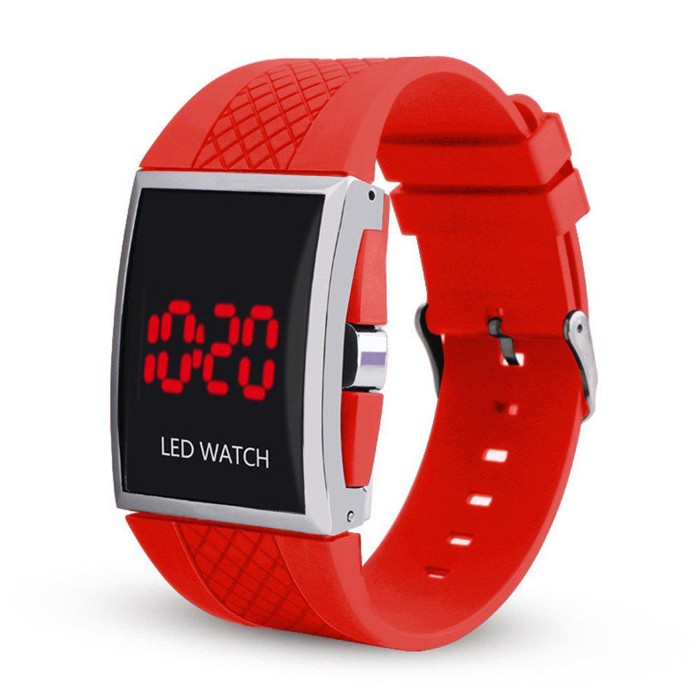 Discount LED Digital  Military Outdoor Rectangle Unisex Electronic Casual Men Watch