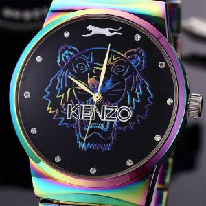 Men Quartz  Colorful Band Personality Stainless Steel Watch -