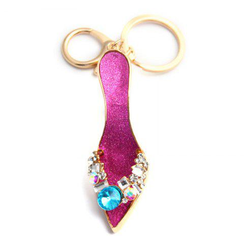 Cheap Fashion Jewelry Brand Office Lady High Heeled Shoes Style Keychains Crystal Rhinestal Oil Drop Key Chains