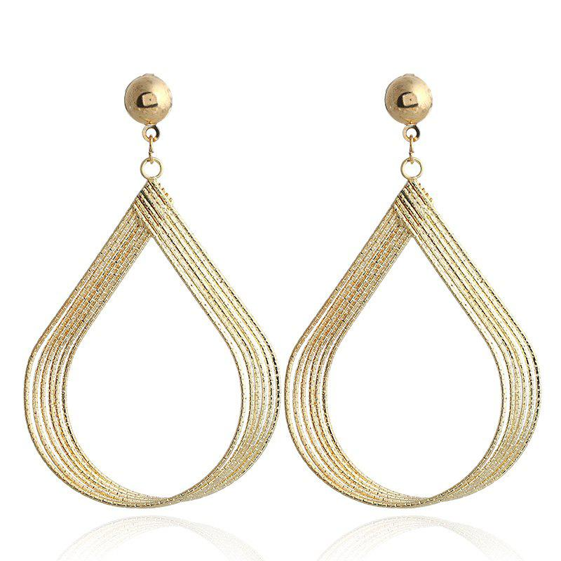 Fashion Jewellry Sliver Gold Drop Earrings Trendy Charm Long Tel Dangle For Women Wedding Party Gift