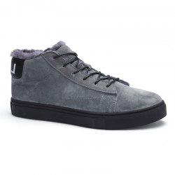 Autumn and Winter Pigskin Rubber Sole Shoes -