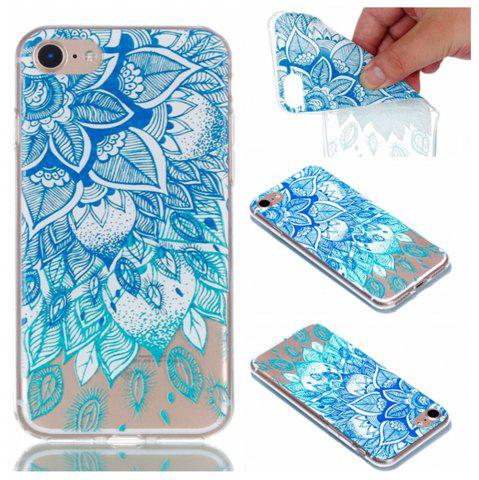 Shop for Iphone 7 Blue Leaves Painted Soft Clear TPU Phone Casing Mobile Smartphone Cover Shell Case