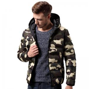 Daifansen Men's Fashion Camouflage Padded Coat -