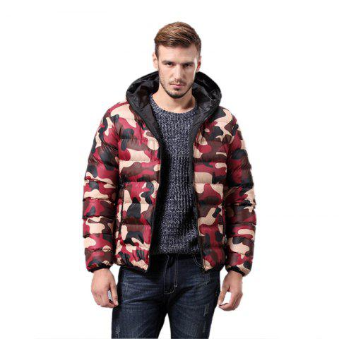 Fashion Daifansen Men's Fashion Camouflage Padded Coat