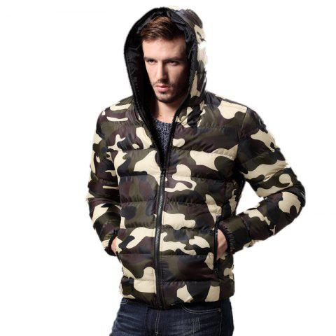 Shops Daifansen Men's Fashion Camouflage Padded Coat