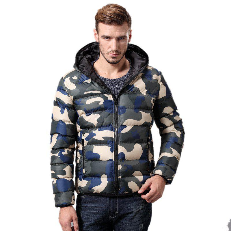 Fancy Daifansen Men's Fashion Camouflage Padded Coat