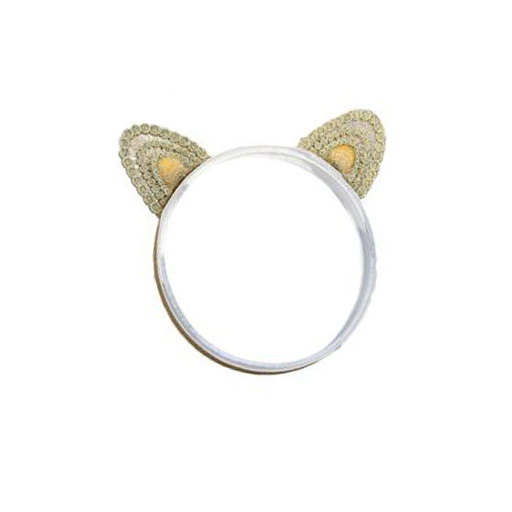 Trendy Three-dimensional Cat Ears Gold Embroidery Children's Three-dimensional Cat Ears Gold Embroidery Children's Hair Band