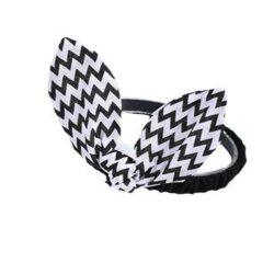 Wavy Striped Bunny Ears for Children Hair Band -