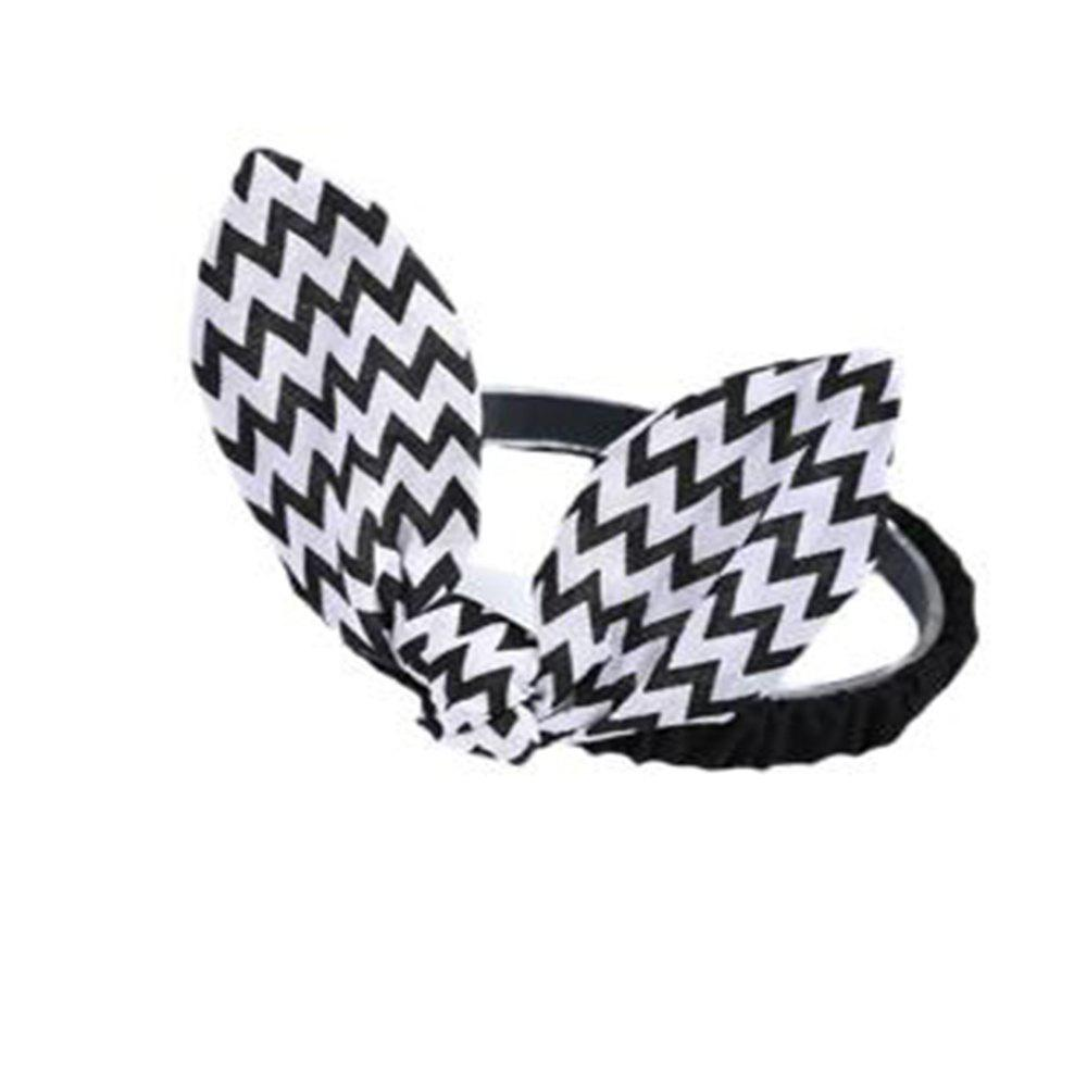 Hot Wavy Striped Bunny Ears for Children Hair Band