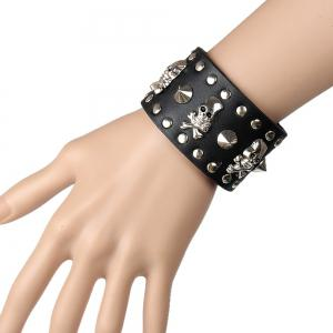 Europe and The United States Non-Mainstream Trend of Casual Rivet Leather Bracelet -