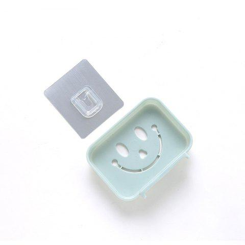 Fashion Seamless Pasting Wall-Mounted Hollow Smile Face Soap Box Dish Bathroom Pretty Top