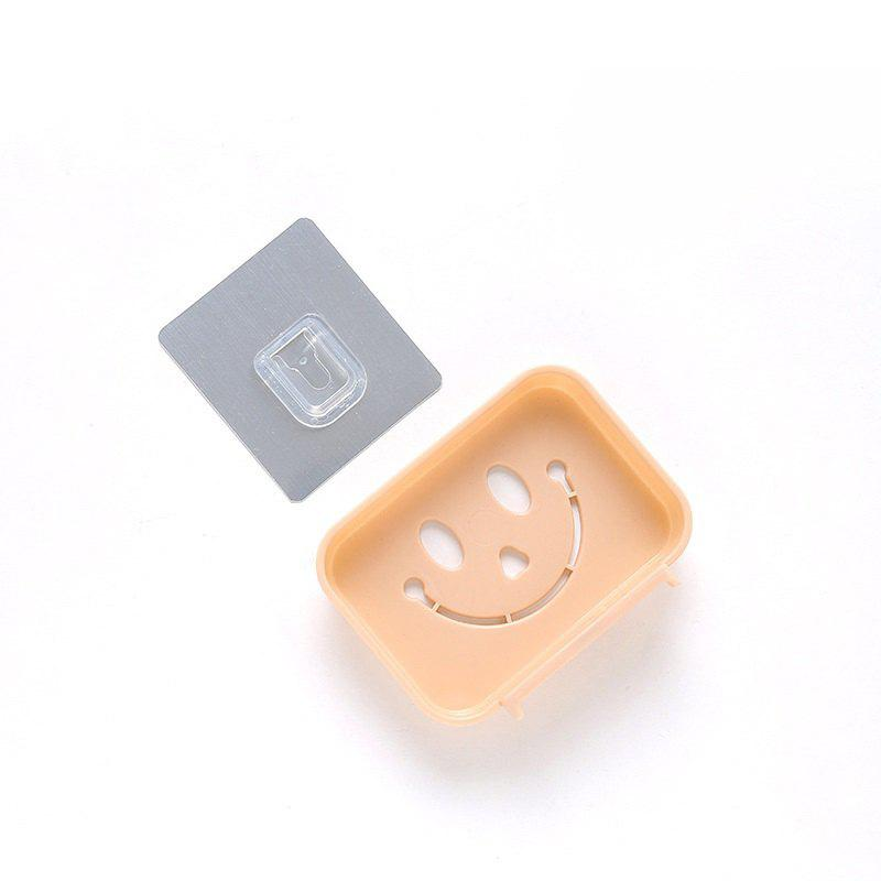 Cheap Seamless Pasting Wall-Mounted Hollow Smile Face Soap Box Dish Bathroom Pretty Top