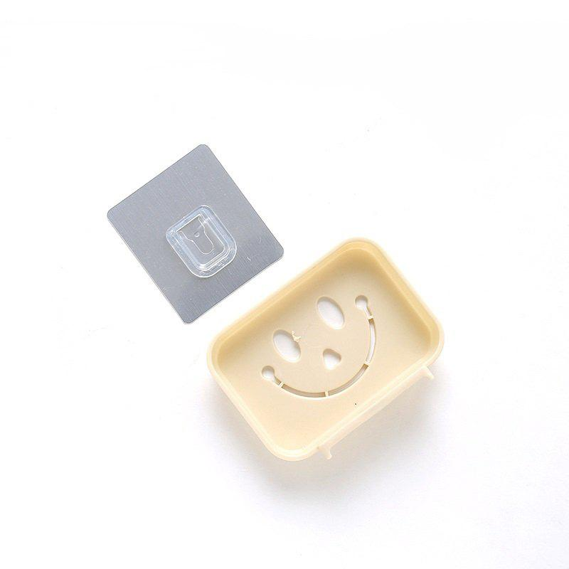Affordable Seamless Pasting Wall-Mounted Hollow Smile Face Soap Box Dish Bathroom Pretty Top