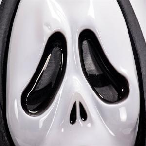 Funny Full Face PVC Realistic Scary Horror Mask Halloween Death Ghost Witch Grimace Scream Masks Party Mask Cosplay Cost -