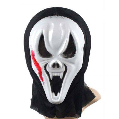 Shops Funny Full Face PVC Realistic Scary Horror Mask Halloween Death Ghost Witch Grimace Scream Masks Party Mask Cosplay