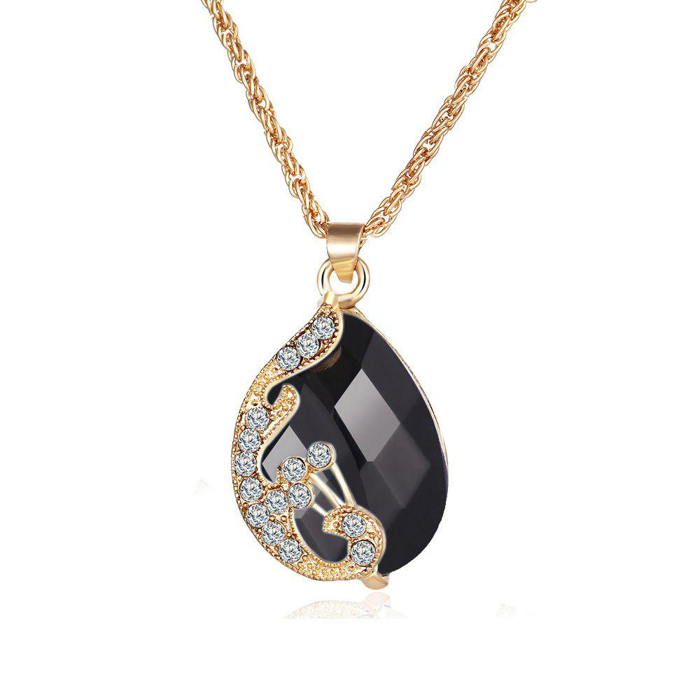 Store 3PCS Crystal Pendant Necklace Earrings Ring Jewelry