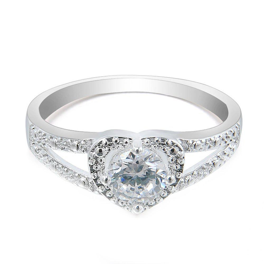 Outfit European and American Fashion Romantic Heart Shaped Diamond Ring