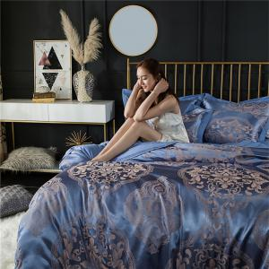 2018 New Bedding sets full queen size cotton satin jacquard duvet cover set OLM -