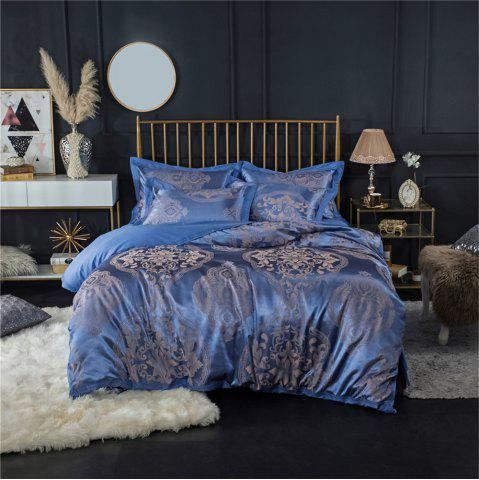 Best 2018 New Bedding sets full queen size cotton satin jacquard duvet cover set OLM