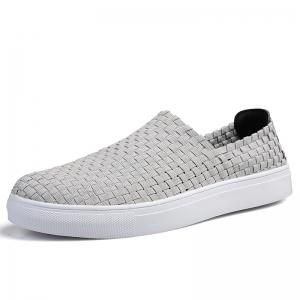 Men Casual Travel Hand Woven Flat Shoes -