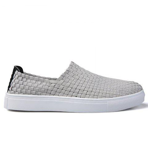 Unique Men Casual Travel Hand Woven Flat Shoes