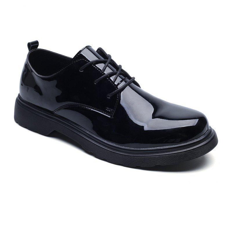 Shops Man Bright Popular Handmade Leather Retro Formal Business Shoes