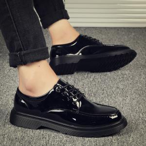 Bright Retro Style of Men Professional Business Handmade Leather Shoes -