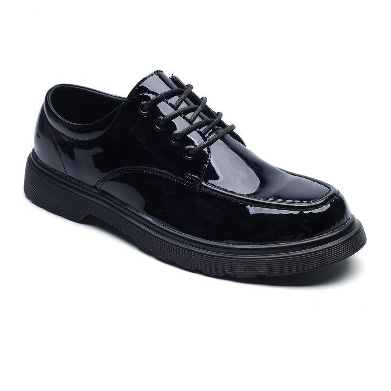 Cheap Bright Retro Style of Men Professional Business Handmade Leather Shoes