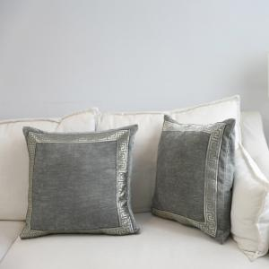 Decorative Pillowcase Classic Suede Cloth Comfy Square Supple Cushion Cover -