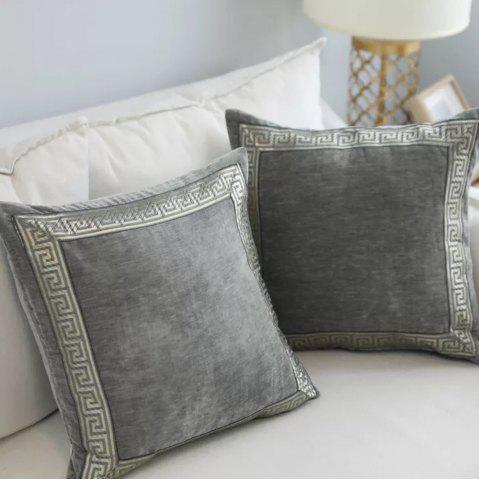 Fancy Decorative Pillowcase Classic Suede Cloth Comfy Square Supple Cushion Cover