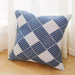 Pillowcase Classic Style Wave Pattern Car Comfy Back Cushion Cover -