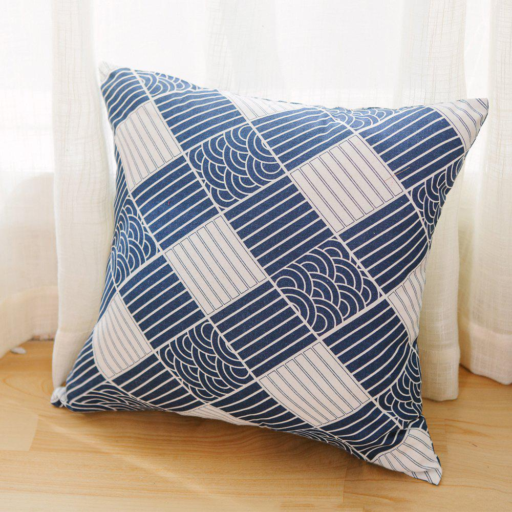 Store Pillowcase Classic Style Wave Pattern Car Comfy Back Cushion Cover