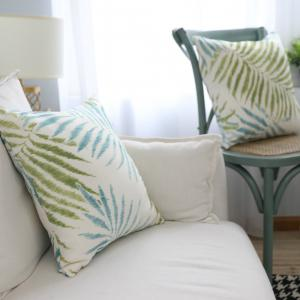 Cushion Cover Fresh Leaf Pattern Cushion Pillowcase Decorative Pillow Cover -
