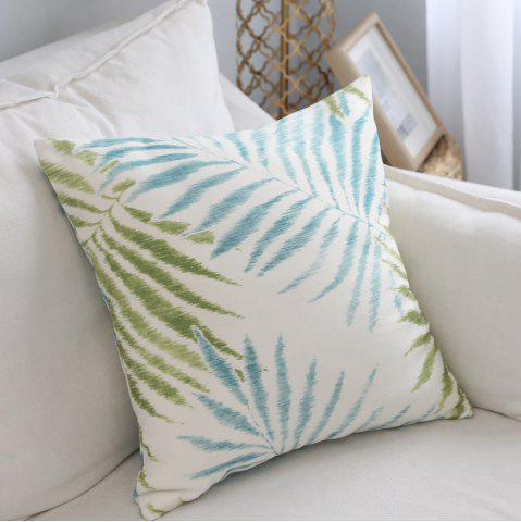 Fancy Cushion Cover Fresh Leaf Pattern Cushion Pillowcase Decorative Pillow Cover
