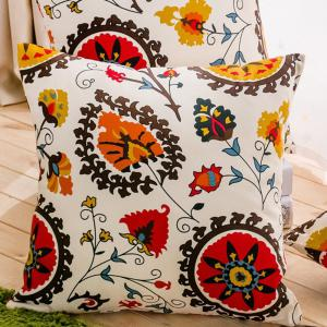 Cushion Cover Colorful Flower Decorative Pillowcase Car Office Decorative Pillow Cover -