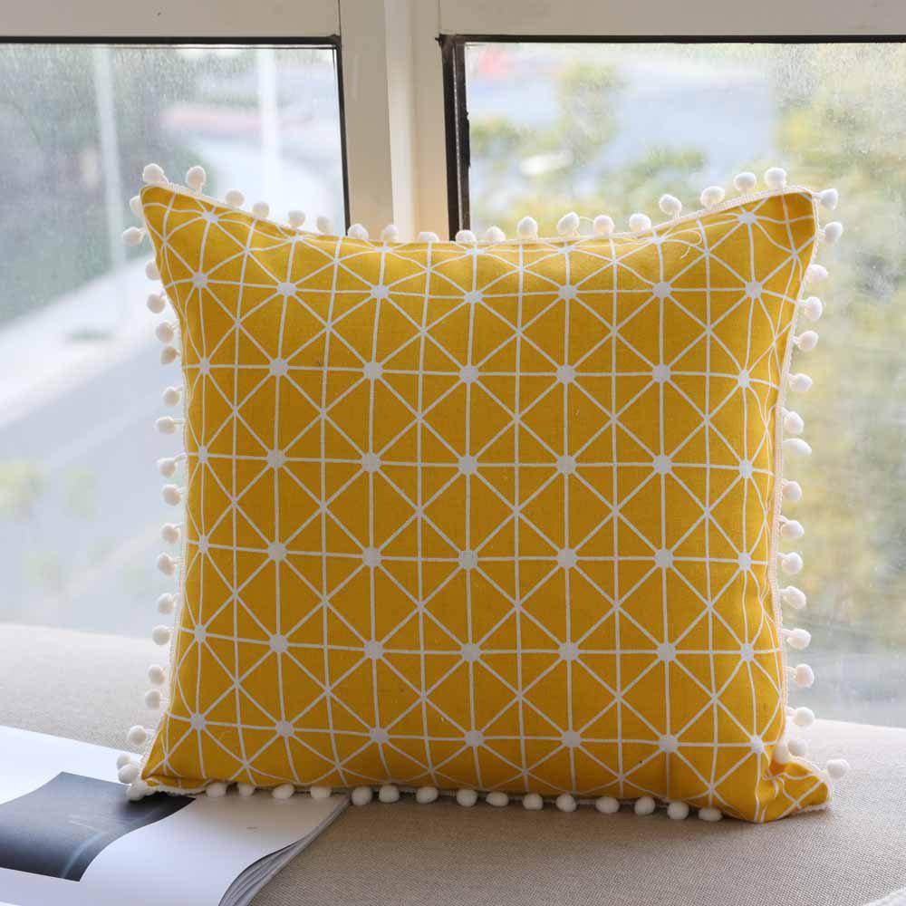 Affordable Decorative Pillowcase Creative Geometric Pattern Car Cushion Cover