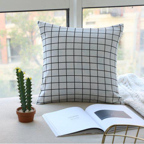 Buy Pillow Cover Nordic Breif Style Striped Plaids Cushion Cover Pillowcase