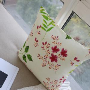 Decorative Cushion Cover Art Flower Painting Pillow Case -