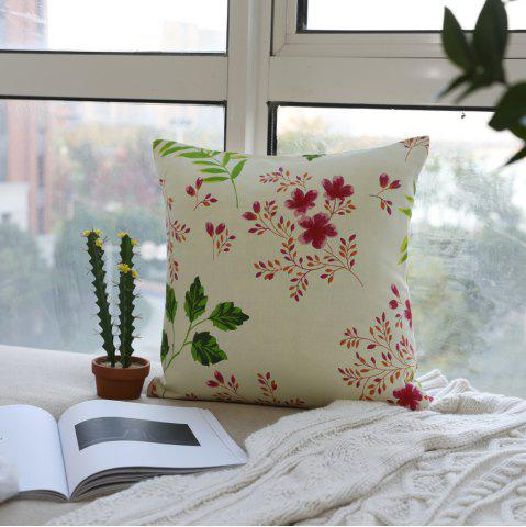 Latest Decorative Cushion Cover Art Flower Painting Pillow Case