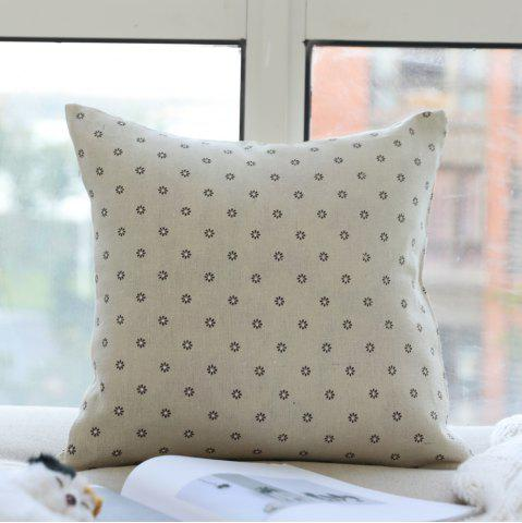 Outfit Sofa Decorative Pillow Pastoral Style Flowers Pattern Square Soft Cushion