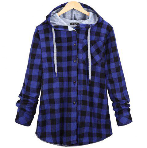 Outfit Plaid Hooded Cardigan Shirt
