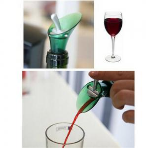 Red Wine Plug Cap Bottle Pour Shutoff Silicone Seal Stopper -