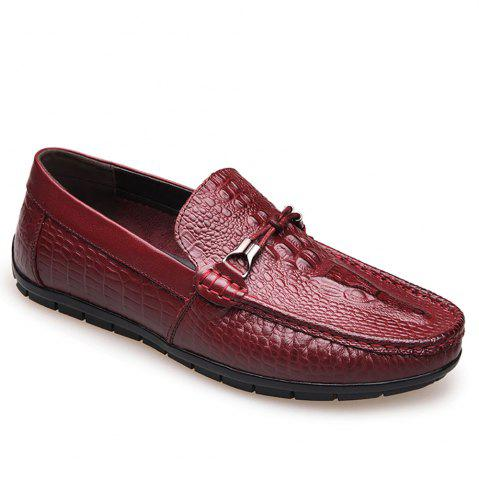 Affordable Crocodile Leather Flat Bottomed Casual Shoes