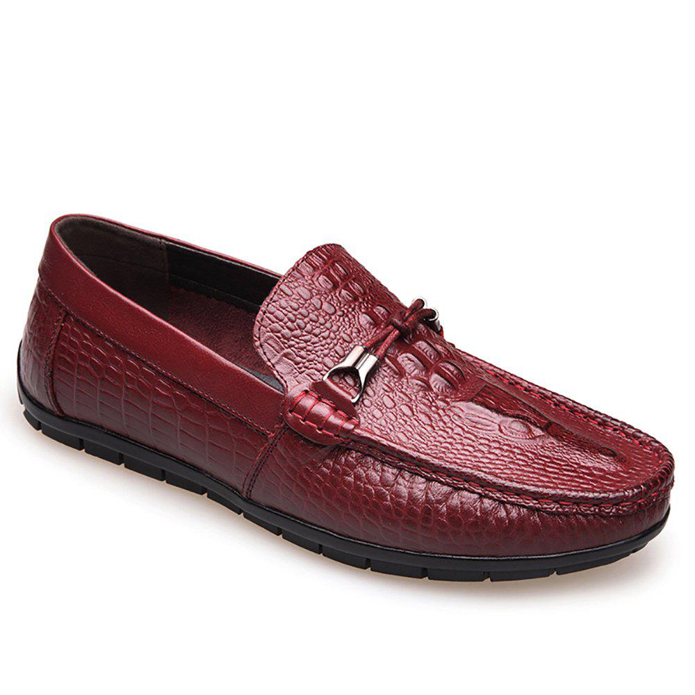 Affordable Leather Flat  Bottomed Casual Shoes